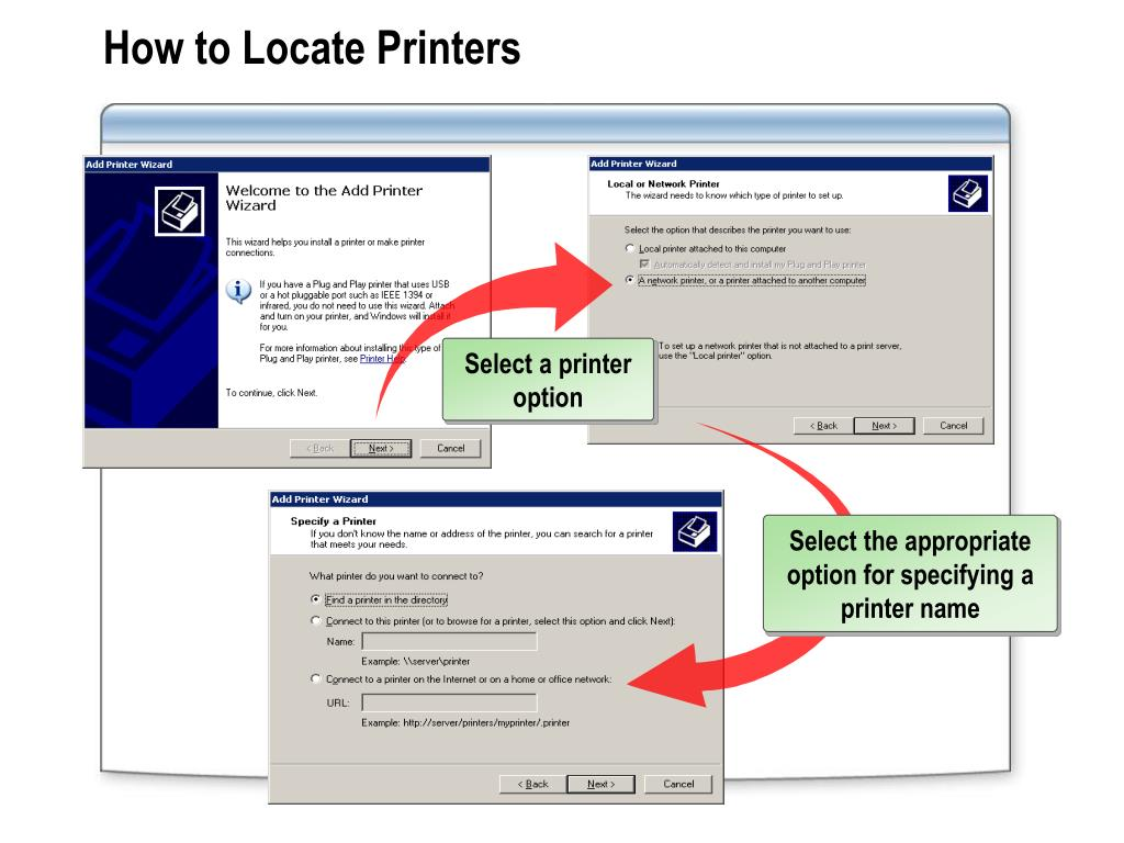 How to Locate Printers