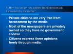 5 how free are private citizens from intrusion and harassment by the media