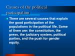 causes of the political participation