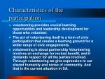 characteristics of the participation2