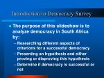 introduction to democracy survey