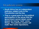 sa judiciary system