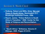 section 8 work cited