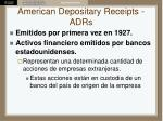 american depositary receipts adrs