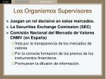 los organismos supervisores