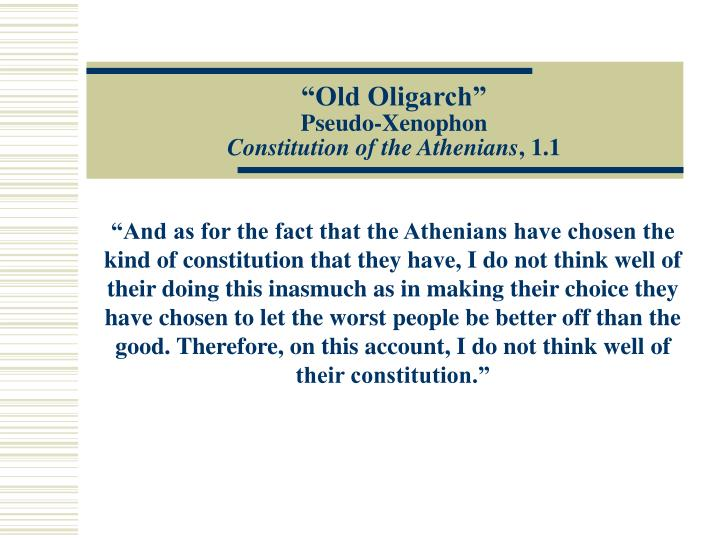 """""""Old Oligarch"""""""
