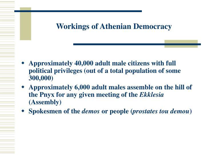 Workings of Athenian Democracy