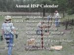 annual hsp calendar