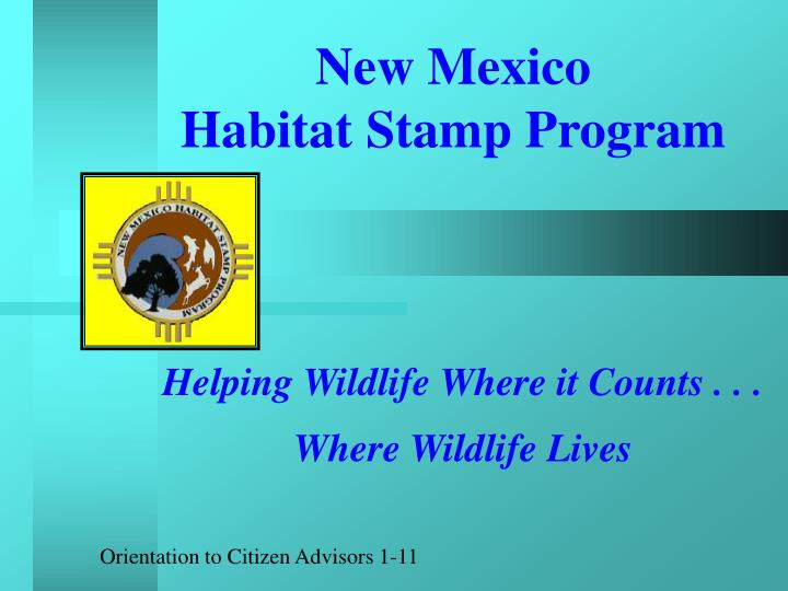 new mexico habitat stamp program n.