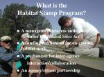 what is the habitat stamp program