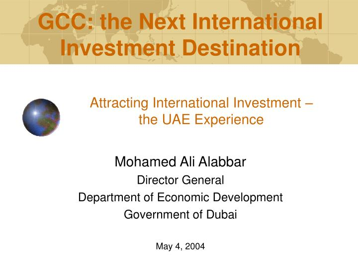 attracting international investment the uae experience n.