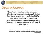 global endorsement