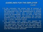 guidelines for the employer contd