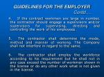 guidelines for the employer contd1