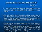 guidelines for the employer contd2