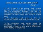guidelines for the employer contd4