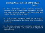 guidelines for the employer contd6
