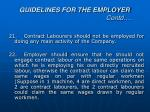 guidelines for the employer contd7