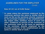 guidelines for the employer contd8