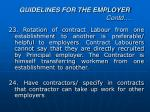 guidelines for the employer contd9