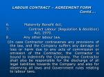 labour contract agreement form contd9