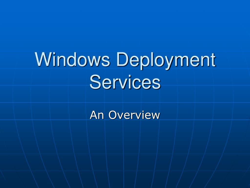 windows deployment services l.