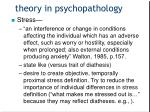 theory in psychopathology1