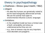 theory in psychopathology3