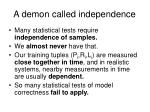 a demon called independence