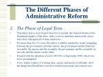 the different phases of administrative reform1