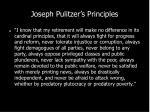joseph pulitzer s principles