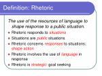 definition rhetoric