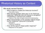 rhetorical history as context