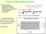 time of flight measurements