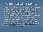roman sources suetonius