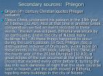 secondary sources phlegon1