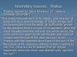 secondary sources thallus