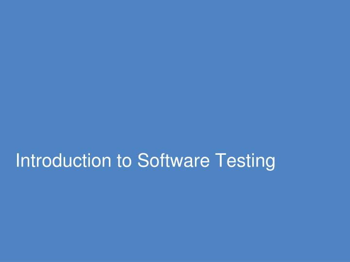 introduction to software testing n.