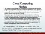 cloud computing florida