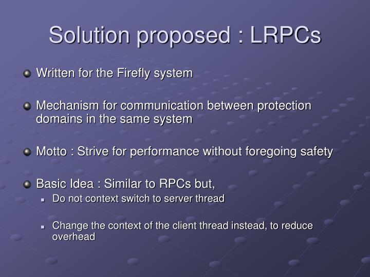 Solution proposed : LRPCs