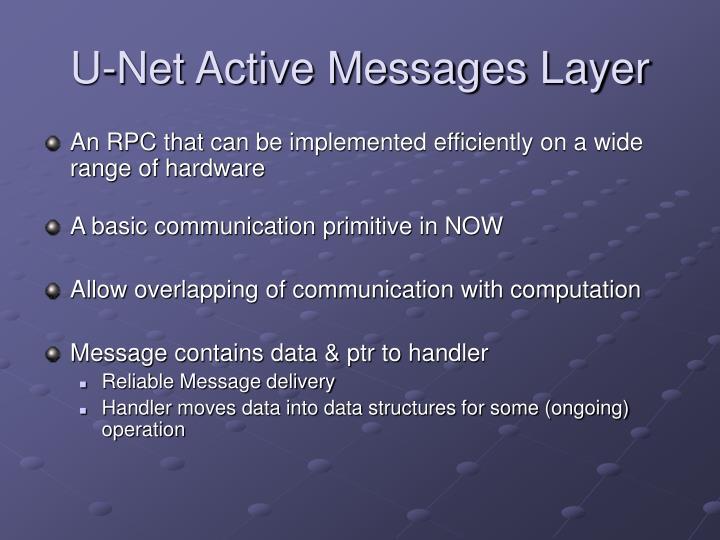 U-Net Active Messages Layer