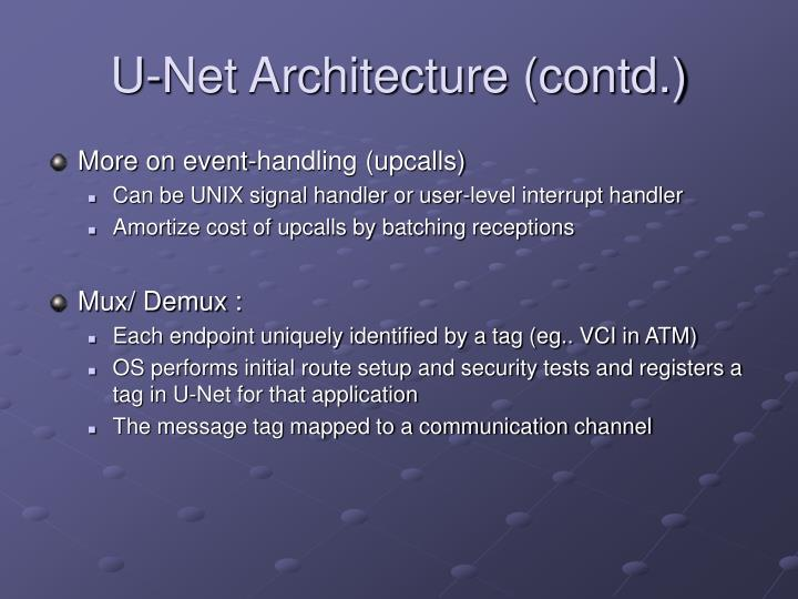 More on event-handling (upcalls)