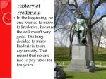 history of fredericia
