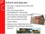 school and daycare
