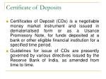certificate of deposits