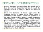 financial intermediation