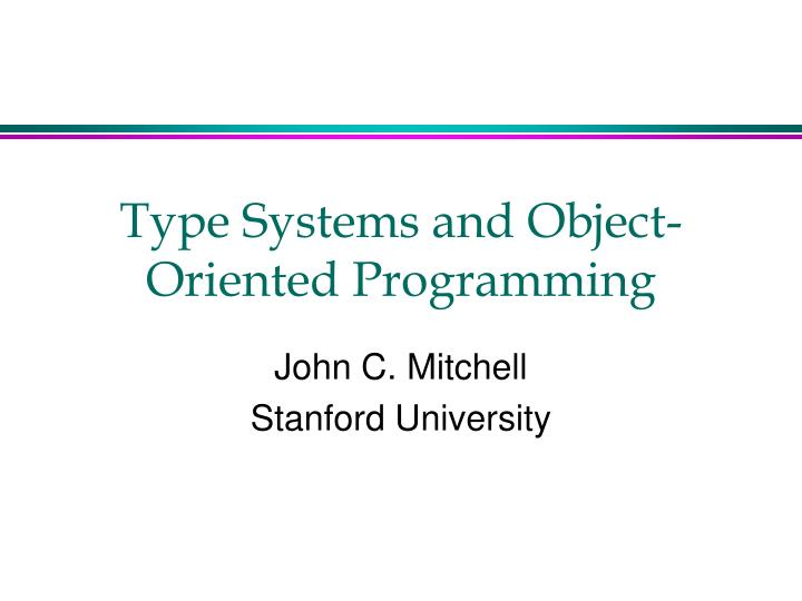 type systems and object oriented programming n.