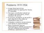 problems 1919 1924