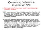 community cohesion interaction 1 2