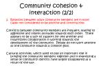 community cohesion interaction 2 2